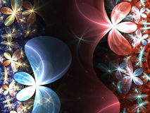 Colorful fractal flowers Stock Images