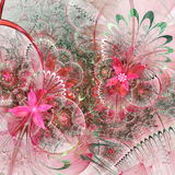 Colorful fractal flowers Royalty Free Stock Photography