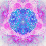 Colorful fractal heart, digital abstract. Design for valentine`s day stock illustration
