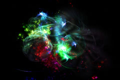 Colorful fractal nebula Royalty Free Stock Photo