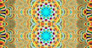 Colorful fractal and psychedelic mandala Art royalty free stock photography