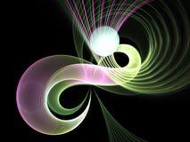 Colorful fractal swirls Stock Photos
