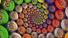 Colorful Fractal Universe Funnel Animation Background stock footage
