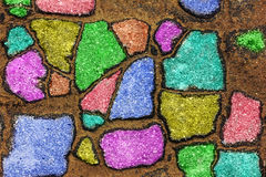 Colorful fragments of asphalt Royalty Free Stock Images
