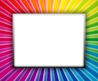 COLORFUL FRAME. With copy space on white background Stock Photo
