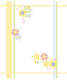 Colorful frame. Colorful flower frame in Sixties style royalty free illustration