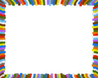 Colorful frame. Background frame made of colourful cubes with 10:8 ratio Stock Image