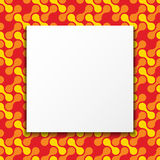 Colorful Frame Background. White paper blank over geometric seamless pattern background. Colorful frame Royalty Free Stock Images