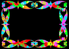 Colorful frame on black Royalty Free Stock Photo