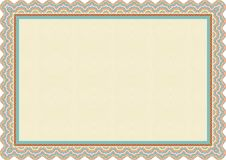 Colorful frame - border for Certificate template Stock Photos