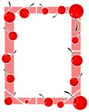 Colorful frame with cherries  Royalty Free Stock Image