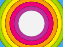 Colorful Frame with Circles Rainbow Stock Photography