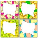 Colorful frame collection Stock Photos