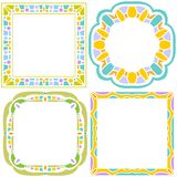 Colorful frame collection over white background Stock Photography
