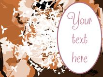 Colorful frame on floral colorful background Royalty Free Stock Image