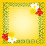 Colorful frame with flower Stock Images