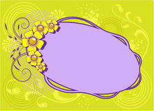 Colorful frame with flowers Royalty Free Stock Photography