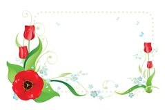 Colorful frame with flowerses stock illustration
