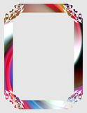 Colorful frame on gray background. Colorful frame with geometric shapes on gray background Stock Images