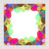 Colorful frame. Colorful of half oval were sorted on white background and frame around Royalty Free Stock Image