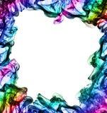 Colorful frame made of smoke Stock Photography