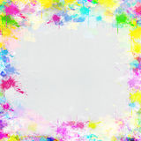 Colorful frame painting on paper Stock Photography