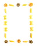 colorful frame pasta Στοκ Εικόνες