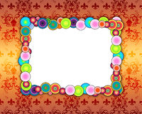Colorful Frame on Patterned Background. A colorful frame on a glowing patterned background Royalty Free Stock Photo