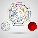 Colorful frame of the polygon with points at the vertices on a light background Stock Photo