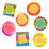 Colorful frame set Royalty Free Stock Photos