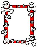 Colorful frame with skull and bones isolated Royalty Free Stock Image