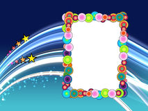 Colorful Frame on Space Background Stock Images