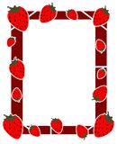 Colorful Frame with strawberry isolated Royalty Free Stock Images