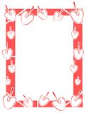Colorful Frame with strawberry isolated Stock Photo