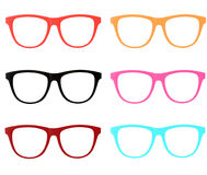 Colorful frame Sunglasses isolated. The Colorful frame Sunglasses isolated Stock Photo