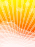 Colorful frame with waves and sun beams Royalty Free Stock Photo