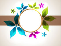 Colorful frame for your design Stock Images
