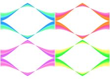 Colorful Frames. Wavy frames in 4 different colors Stock Image