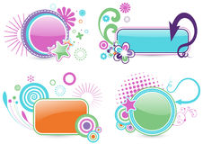 Colorful frames. Set of four colorful frames Royalty Free Stock Photography