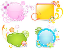 Colorful frames. Set of four colorful frames Royalty Free Stock Images