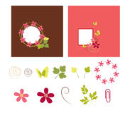 Colorful frames. Colorful digital frames and elements Royalty Free Stock Image