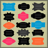 Colorful frames. A set of colorful frames Royalty Free Stock Images