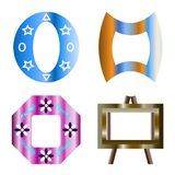 Colorful Frames design. That have 4 frames not same style Royalty Free Stock Photo