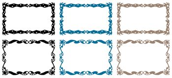 Colorful frames. Image representing a set of colorful frames with stars and othe elements Royalty Free Stock Images