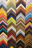 Colorful frames molding samples of picture. background texture stock image