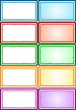 Colorful Frames Pack Royalty Free Stock Photos