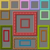 Colorful frames. This picture shows the series of the colorful frames. Their surface has a appearance of embossed texture. Dimensions their of sides are in the Stock Photos