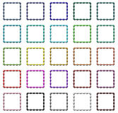 Colorful frames set. Set of colorful regular design frames Royalty Free Stock Photos