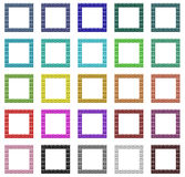 Colorful frames set Stock Photography