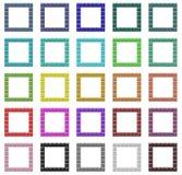Colorful frames set. Set of colorful regular design frames Stock Photography